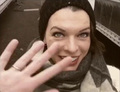 Milla Jovovich on set!