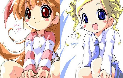 powerpuff girls Z 壁紙 probably with アニメ entitled Momoko & Miyako