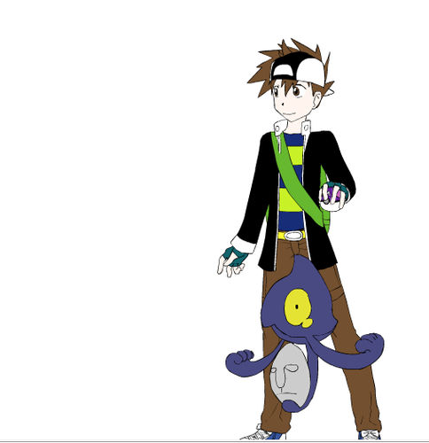 My friend Vince as a pokemon trainer~ <3