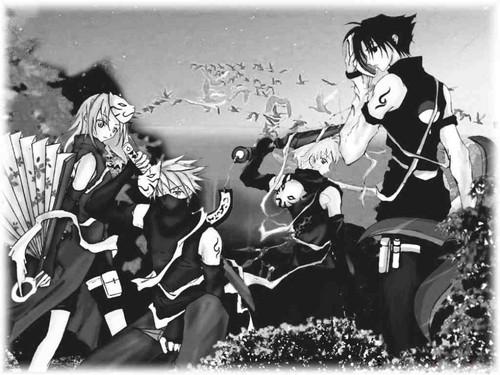 Naruto,Sakura ,Saskeand কাকাসি