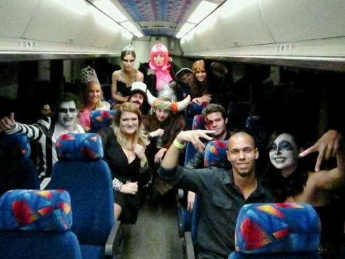 Nina's Twitter Pic ; TVD Cast on Halloween