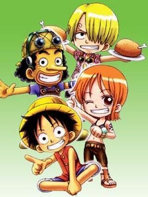 One Piece karatasi la kupamba ukuta containing anime titled One Piece Chibi~