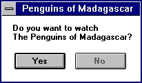 Penguins of Madagascar Dialog Box
