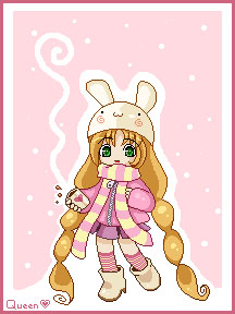Pixel doll bunny girl