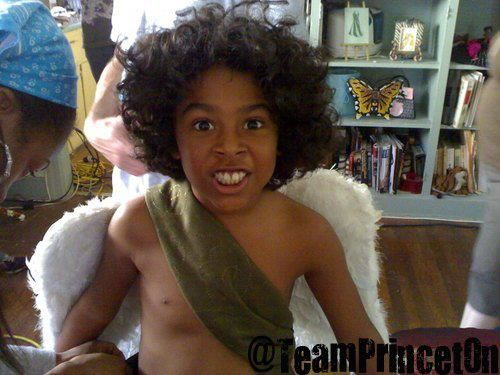 Princeton as little Cupid Boy :) Lol