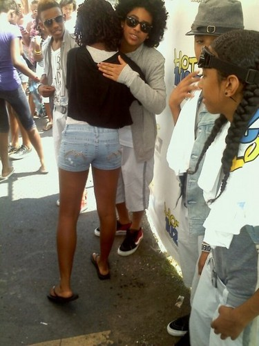Princeton hugging a fan :)