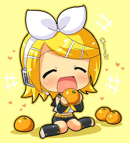 Vocaloid wallpaper with anime titled Rin Kagamine