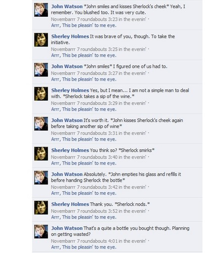Sherlock/Watson ফেসবুক Conversation