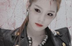 Snsd vampire makeup!