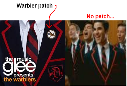 Glee wallpaper titled Something I noticed about the Warbler cover