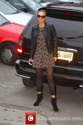 Tulisa Contostavlos arrives at 'The X Factor' studios [11.11.11]