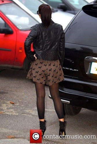 Tulisa Contostavlos arrives at 'The X Factor' studios [11.11.11]