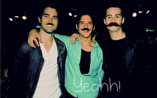 Teen Wolf wallpaper probably containing sunglasses and a well dressed person titled Tyler Hoechlin, Tyler Posey and Dylan O´Brien- Yeahh!