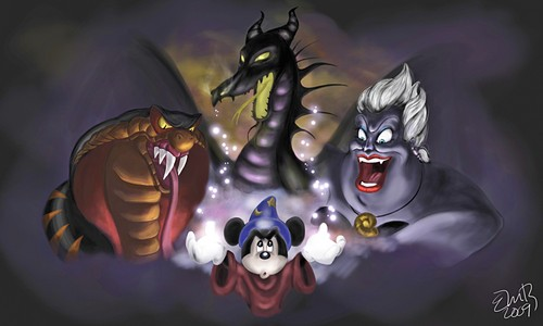 Walt Disney shabiki Art - A Nightmare Fantasmic