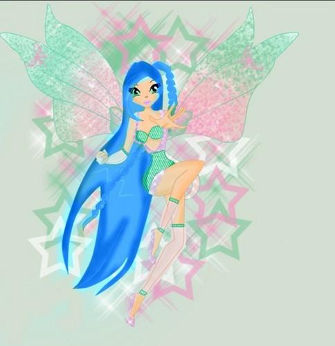 Winx OC Julie in her Heartix, and Her Heartix wings!