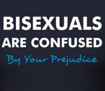 bisexuals are confused...