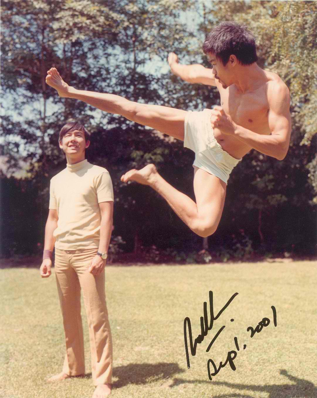 Lee Flying Flying Kick Bruce-lee Photo