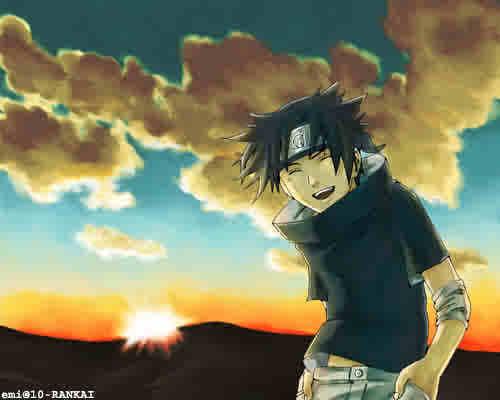 Naruto Shippuuden Hintergrund titled sasuke-kun laughing