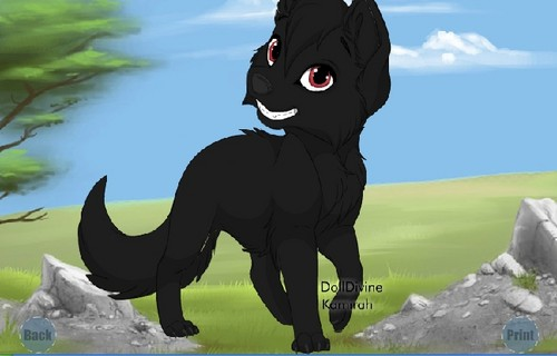 shadow as a 子犬