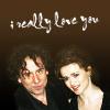 Helena Bonham Carter/Tim Burton photo containing a portrait titled tim & helena