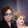 Helena Bonham Carter/Tim Burton photo probably with a business suit and a portrait entitled tim & helena