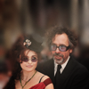 Helena Bonham Carter/Tim Burton photo possibly with a business suit and a portrait entitled tim & helena