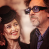 Helena Bonham Carter/Tim Burton photo possibly with a business suit entitled tim & helena