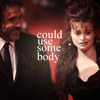 Helena Bonham Carter/Tim burton photo with a business suit and a portrait entitled tim & helena