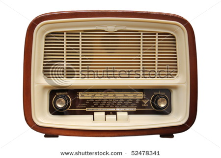 vintage radio from the 1950s