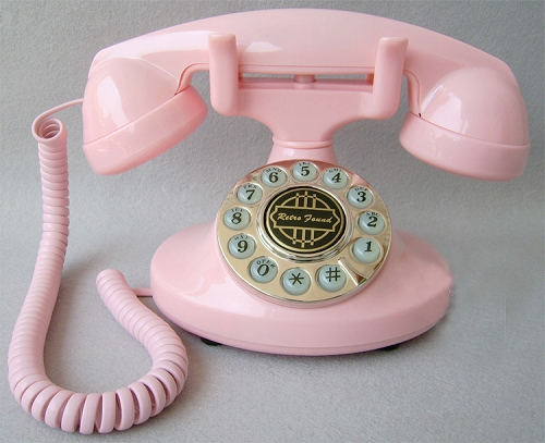 vitage pink phone