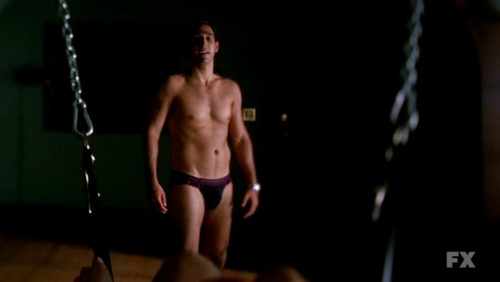American Horror Story wallpaper probably with a hunk called American Horror Story 1x07 | Open House