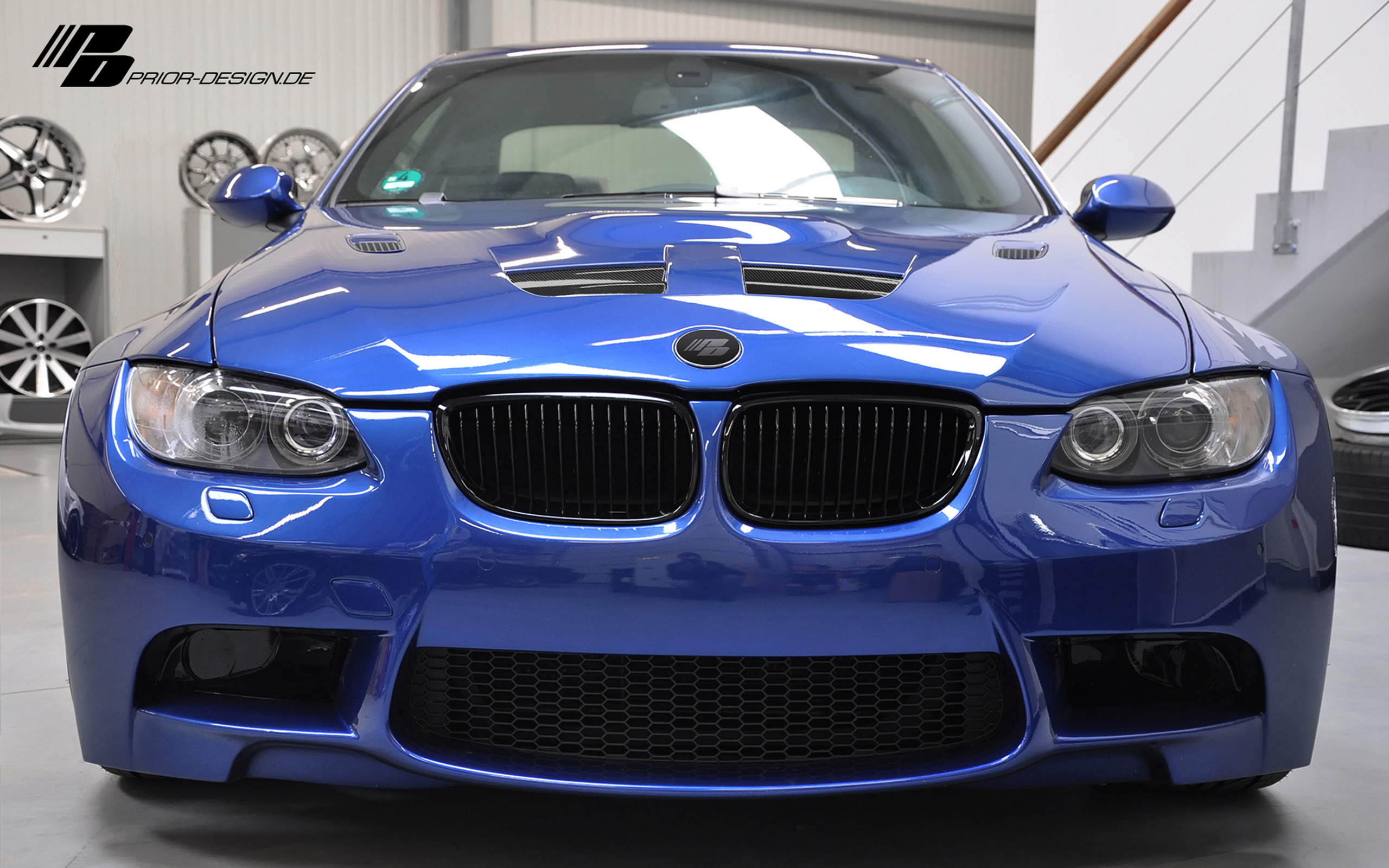 Prior Design BMW E92/E93 M3-style wide body kit.