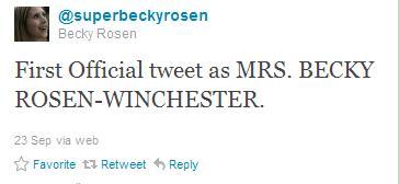 Becky's Twitter