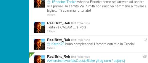 Britt Robertson on Twitter