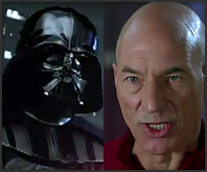 Captain Picard with Darth Vader