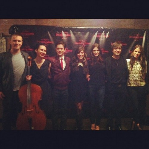 Christina Perri and the Twilight cast