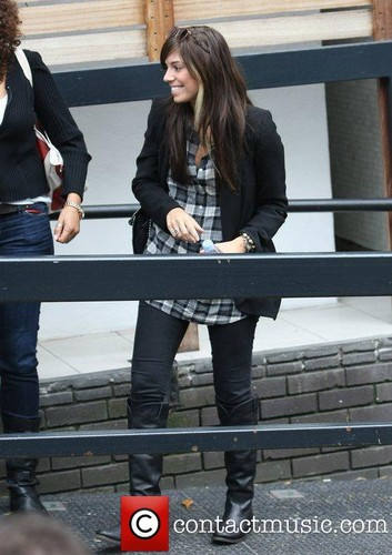 Christina Perri. outside the ITV studios