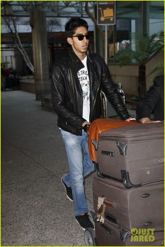 Dev Patel Lands at LAX Airport