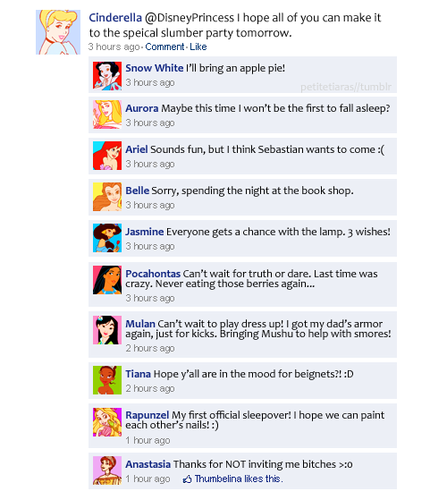 disney Princesses on facebook