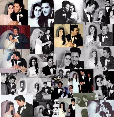 Elvis and Priscilla collage