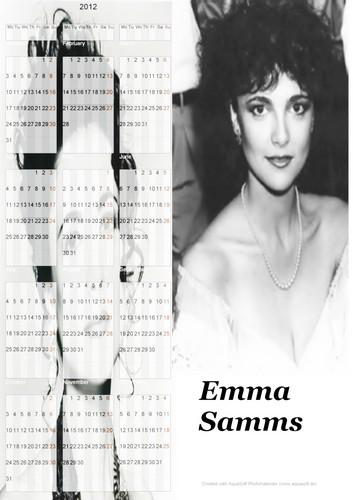 Emma Samms Destop Calendar 2012