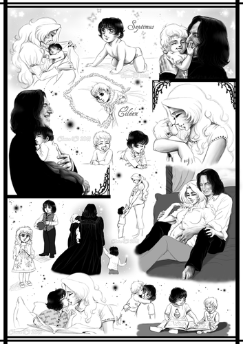 Severus Snape wallpaper probably containing an electric refrigerator entitled Family Moments
