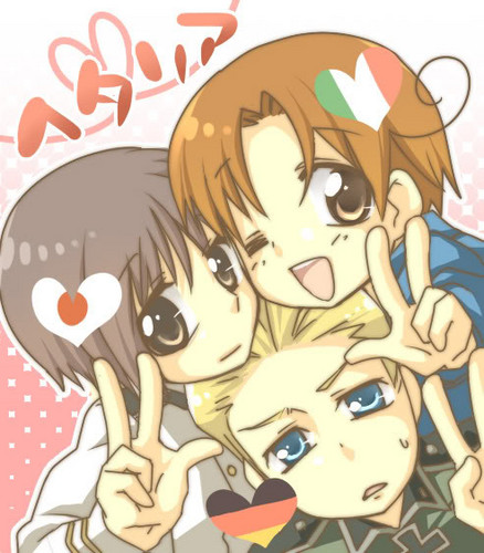 Hetalia wallpaper containing anime called Germany, Italy, and Japan
