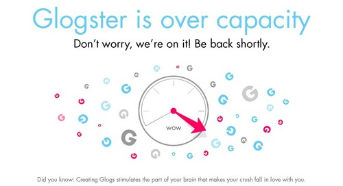 Glogster is Over Capacity