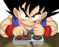 Goku Gets His Gamin' On