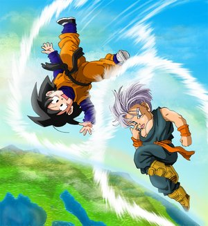 Dragon Ball Z wallpaper possibly with anime entitled Goten and Trunks