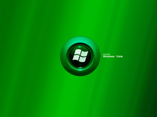 Windows 7 壁紙 entitled Green-Leaf-Vista010