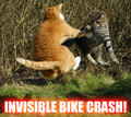 INVISIBLE BIKE CRASH!!!!!