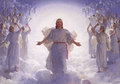 Jesus comes with the clouds - the-bible photo