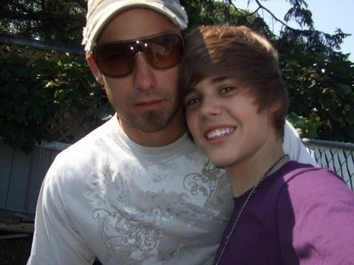 Justin Bieber and his dad
